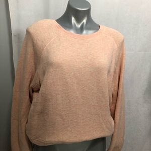 Madewell texture cropped sweatshirt, peach color
